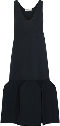 Tibi Fluted Pleated Ponte Midi Dress
