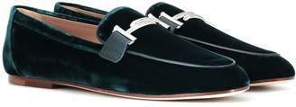 Tod's Exclusive to Mytheresa Double T velvet loafers