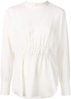 Glanshirt ruched blouse