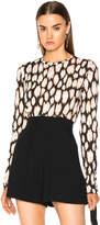 Proenza Schouler Ikat Leopard Tissue Jersey Long Sleeve Tee