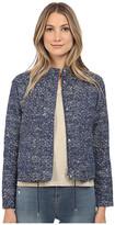 Armani Jeans Fancy Bi-Color Cotton/Poly Blouse