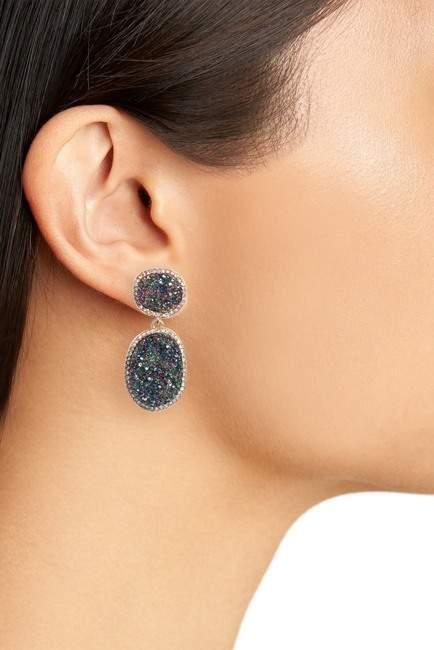 BaubleBar Krystal Faux Drusy Drop Earrings
