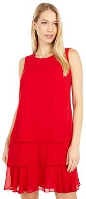 Lauren Ralph Lauren Tyree Sleeveless Day Dress (Orient Red) Women's Dress