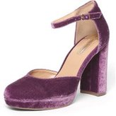 Dorothy Perkins Womens Purple Velvet 'Gabrielle' Court Shoes- Purple