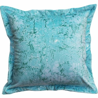 Emily Laura Designs Abstract Blue Velvet Cushion
