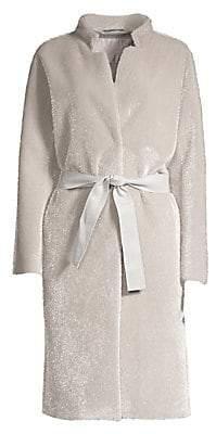 Herno Women's Metallic Faux-Fur Coat