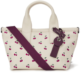 Marc by Marc Jacobs Women's Embroidered Fruit Canvas Small Tote Bag Off White Cherry