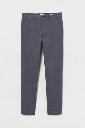 H&M Skinny Fit Cotton Chinos - Gray