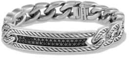David Yurman Maritime Diamond& Sterling Silver Curb Link Bracelet