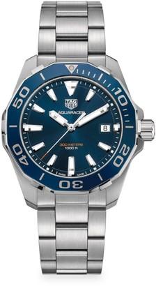 Tag Heuer Aquaracer 41MM Stainless Steel & Blue Aluminum Quartz Bracelet Watch