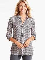 Talbots Forest-Check Casual Shirt
