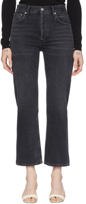 AGOLDE Black Ripley Straight Jeans