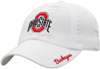Women's Top of the World White Ohio State Buckeyes Staple Adjustable Hat