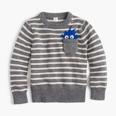 J.Crew Boys' Max the Monster cotton crewneck sweater