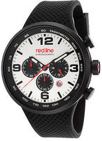 Redline Red Line 50057-BB-02S Men's APEX12 Chronograph Black Silicone Silver-Tone