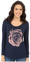 Lucky Brand Photographic Rose Tee
