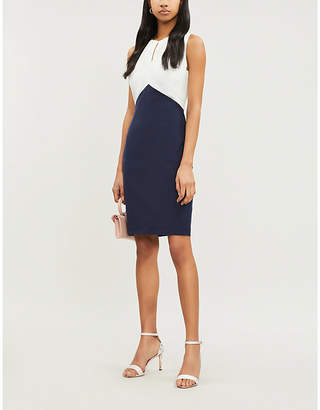 Ted Baker Zamelid fitted sleeveless crepe dress