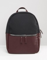 Smith And Canova Leather And Nylon Backpack