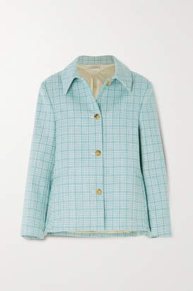 Nina Ricci Checked Wool-tweed Jacket - Light green