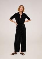 MANGO Pleated culotte trousers ochre - S - Women