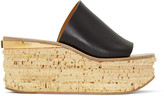 Chloé Black Camille Wedge Mules