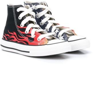 Converse Flame-Print High-Top Sneakers