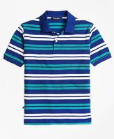 Brooks Brothers Double Stripe Pique Polo