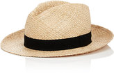 Barneys New York MEN'S BASKET-WEAVE FEDORA-NUDE SIZE S