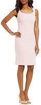 Kasper Stretch Crepe Sheath Dress