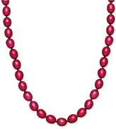 Honora Style Cherry Cultured Freshwater Pearl Necklace in Sterling Silver (7-8mm)