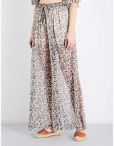 Zimmermann Prima cherry silk-chiffon trousers