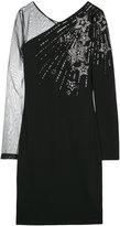 Just Cavalli embellished sheer sleeve dress