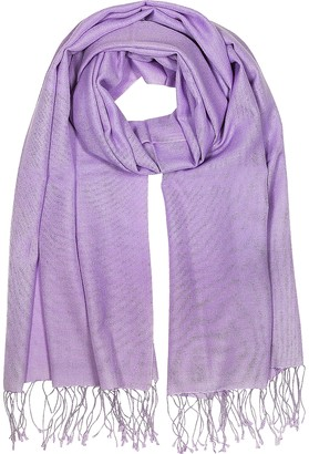 Forzieri Lilac Silk and Pashmina Shawl