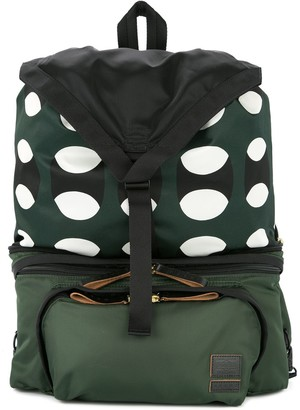 Marni x Porter geometric print backpack