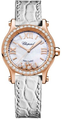 Chopard Rose Gold Happy Sport Automatic Watch 30mm