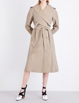 J.W.Anderson Cross collar poplin trench coat