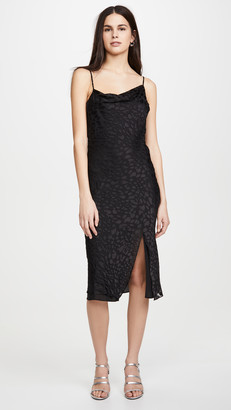 Good American Cowl Asymmetrical Dress