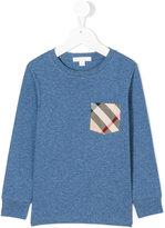 Burberry checked chest pocket sweatshirt