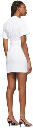 alexanderwang.t White Cross Draped T-Shirt Dress