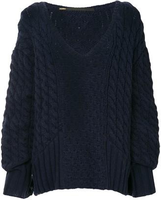 Muller of Yoshio Kubo Cable-Knit Oversized Sweater