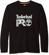 Timberland Men's Wicking Good Long-Sleeve T-Shirt with Logo