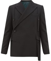 Wooyoungmi - Double Breasted Wool Twill Jacket - Mens - Black