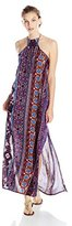Lucy-Love Lucy Love Juniors' Barefoot Printed Halter Maxi Dress
