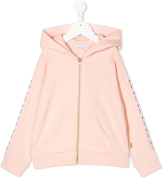 The Marc Jacobs Kids Logo Embroidered Zipped Hoodie