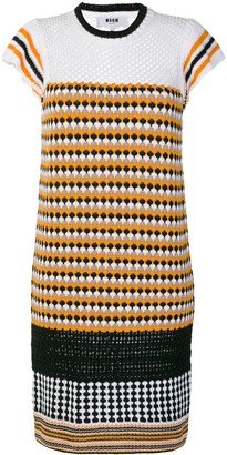 MSGM patterned knit dress