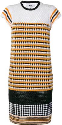 MSGM Patterned Knit Dress