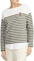 Lauren Ralph Lauren Layered-Look Breton Striped Top
