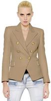 Balmain Double Breasted Viscose Crepe Jacket