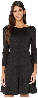 Kate Spade Sparkle Ponte Dress (Black) Women's Dress