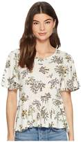 Lucky Brand Printed Top Women's Short Sleeve Pullover